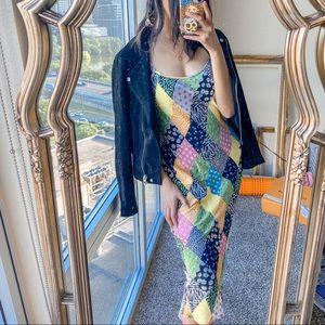 Rixo x Target Floral Patchwork Midi Slip Dress